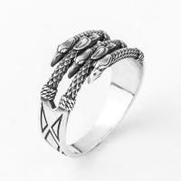 Кольцо из серебра Дракон-Грифон
