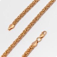 Цепочка Византия из золота (Лисий хвост)